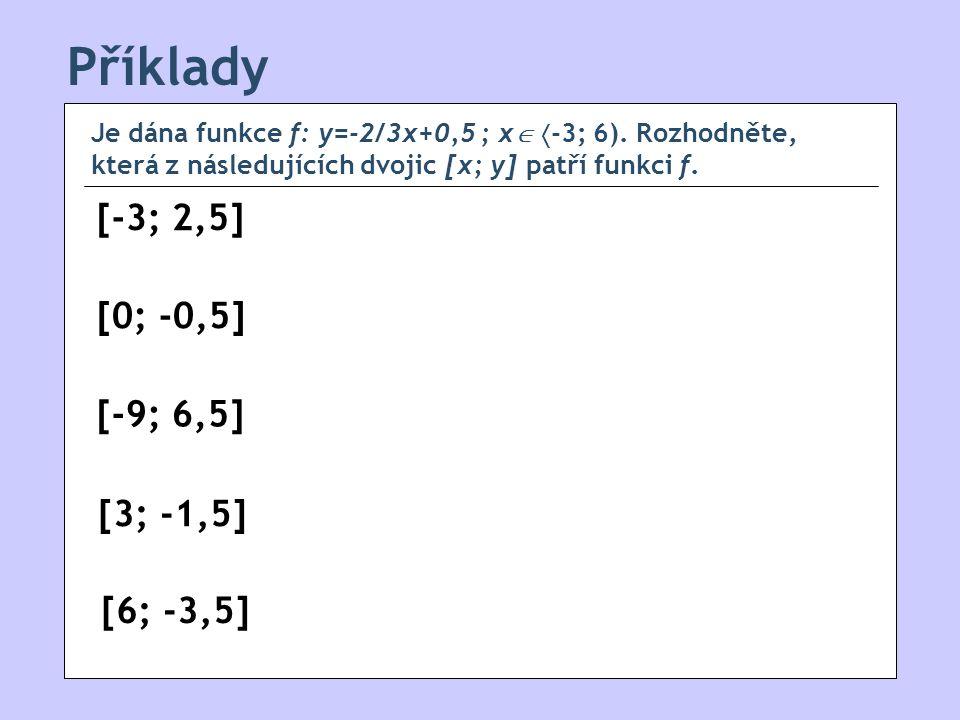 Příklady [-3; 2,5] [0; -0,5] [-9; 6,5] [3; -1,5] [6; -3,5]